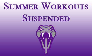 Summer Workouts Suspended
