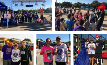 SMCISD PE teachers and students in the Dia do los Muertos 5K