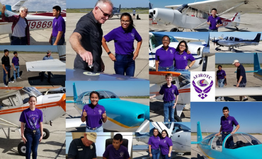 , Air Force JROTC Cadetscompleted requirements for their Young Eagles Flying Certification.