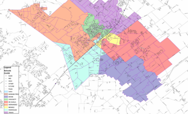 Sample map of the elementary attendance zones